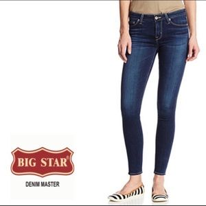 Big Star Ava Skinny Jeans Size 27P Dark Wash NWT